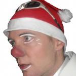 clown met kerst
