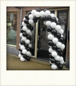 ballonnen decoratie achterveld