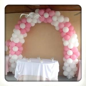 ballonnenboog voor bruiloft