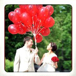 heliumballonnen voor huwelijk