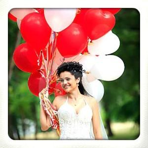 ballonnenboog bruiloft