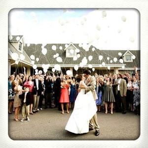 heliumballonnen voor bruiloft